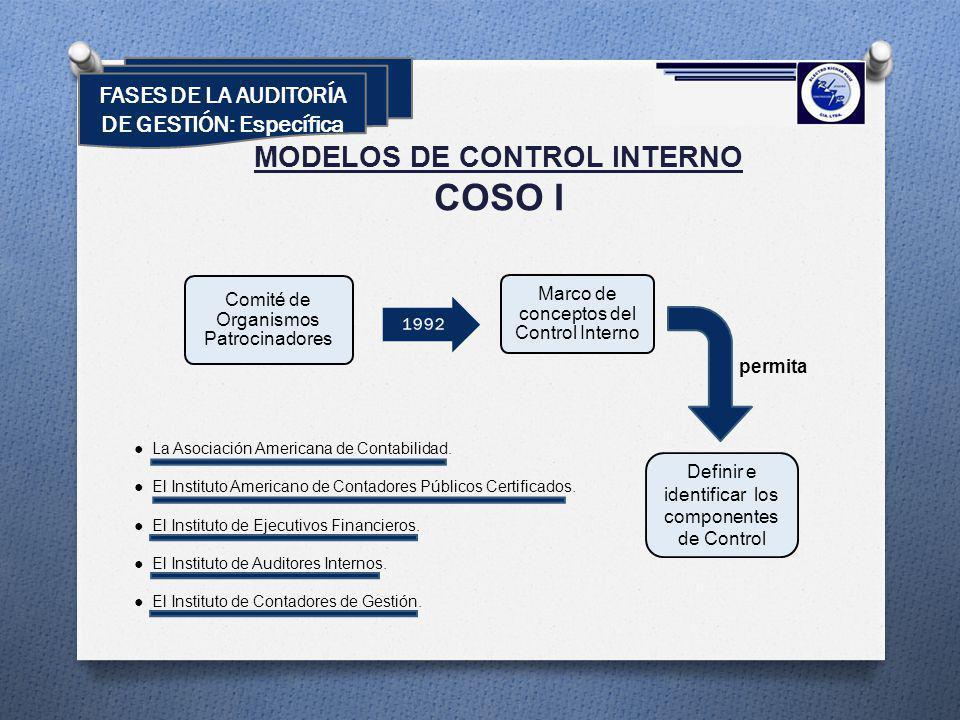 COSO I MODELOS DE CONTROL INTERNO