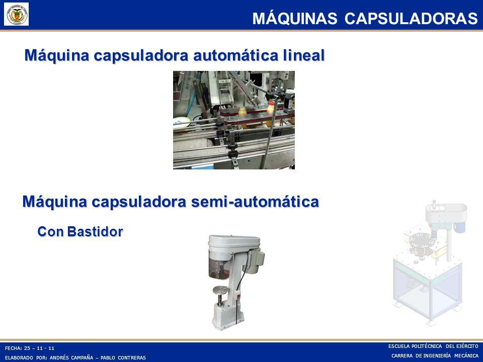 Máquina capsuladora automática lineal