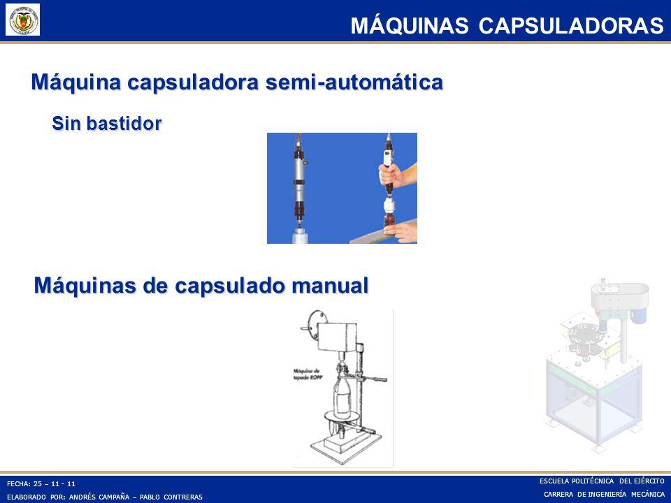 Máquinas de capsulado manual