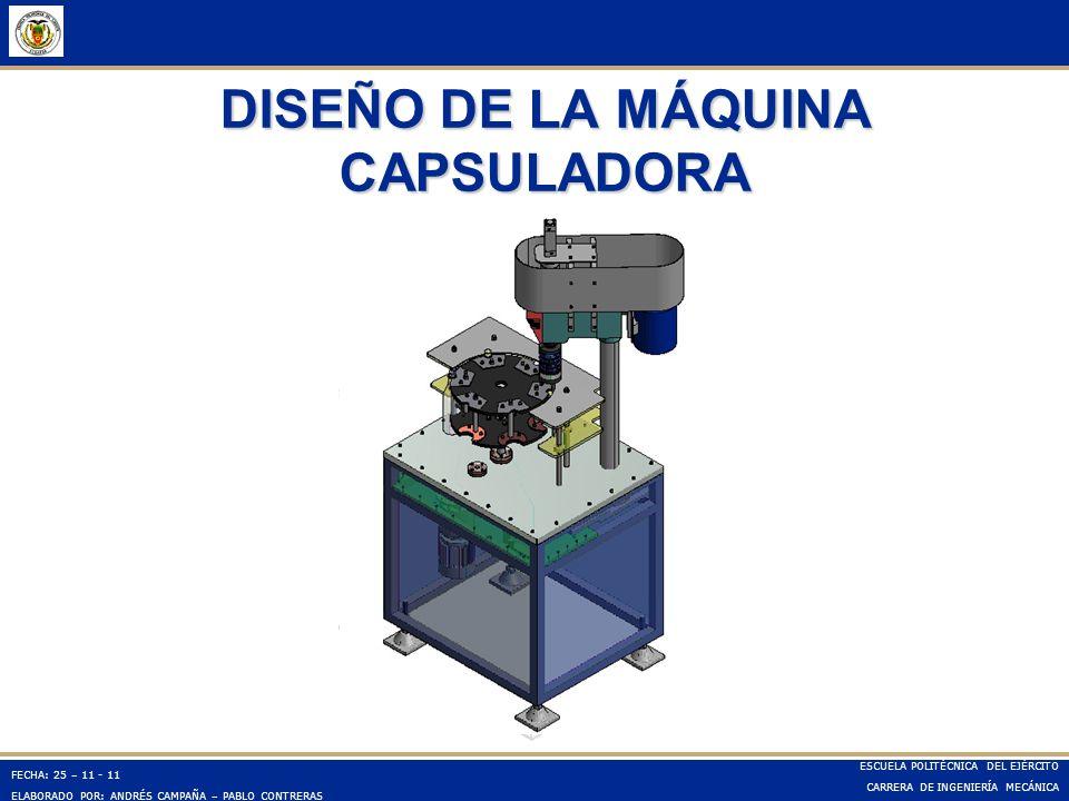 DISEÑO DE LA MÁQUINA CAPSULADORA