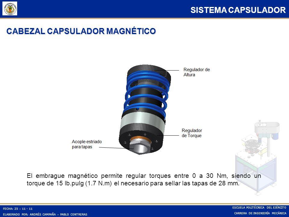 CABEZAL CAPSULADOR MAGNÉTICO