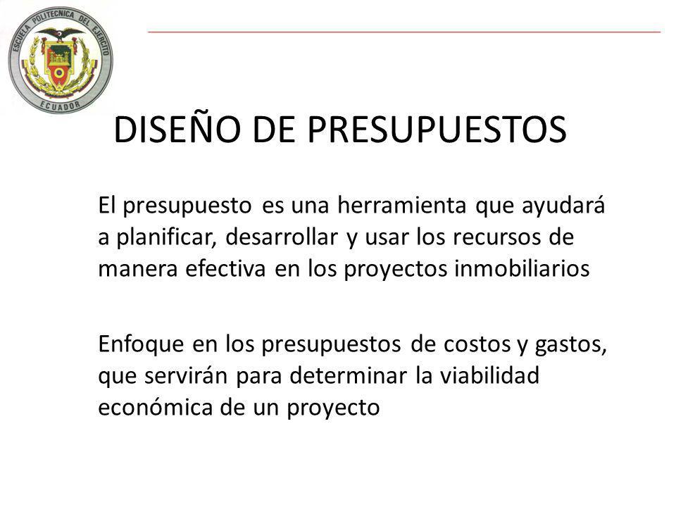 DISEÑO DE PRESUPUESTOS