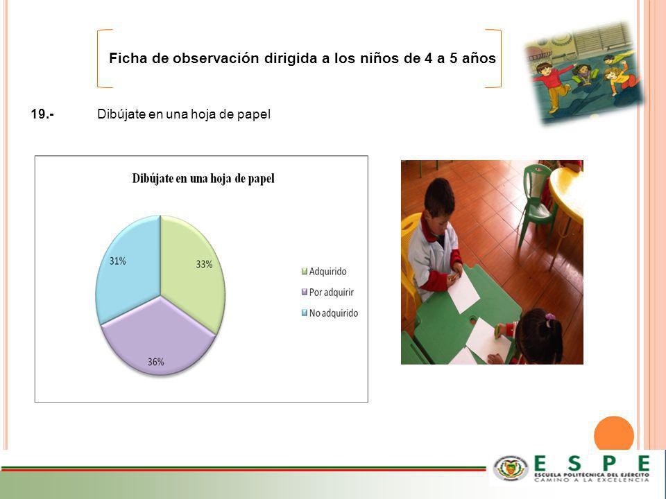 Ficha de observación dirigida a los niños de 4 a 5 años