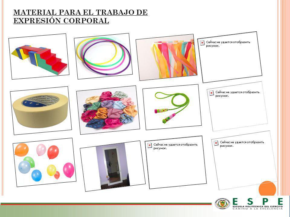 MATERIAL PARA EL TRABAJO DE EXPRESIÓN CORPORAL