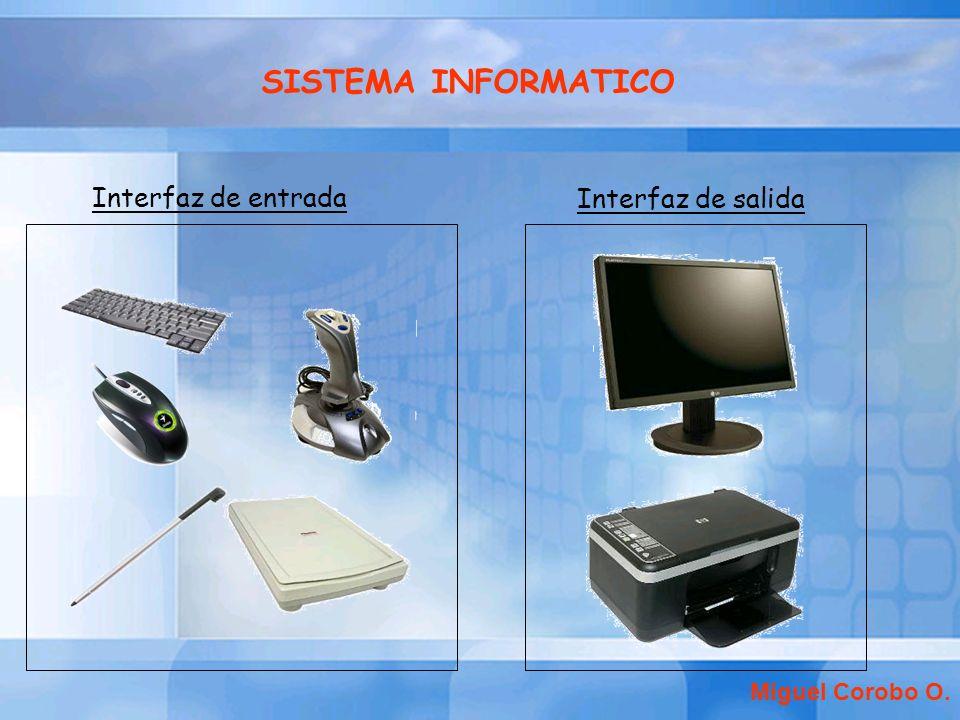 SISTEMA INFORMATICO Interfaz de entrada Interfaz de salida