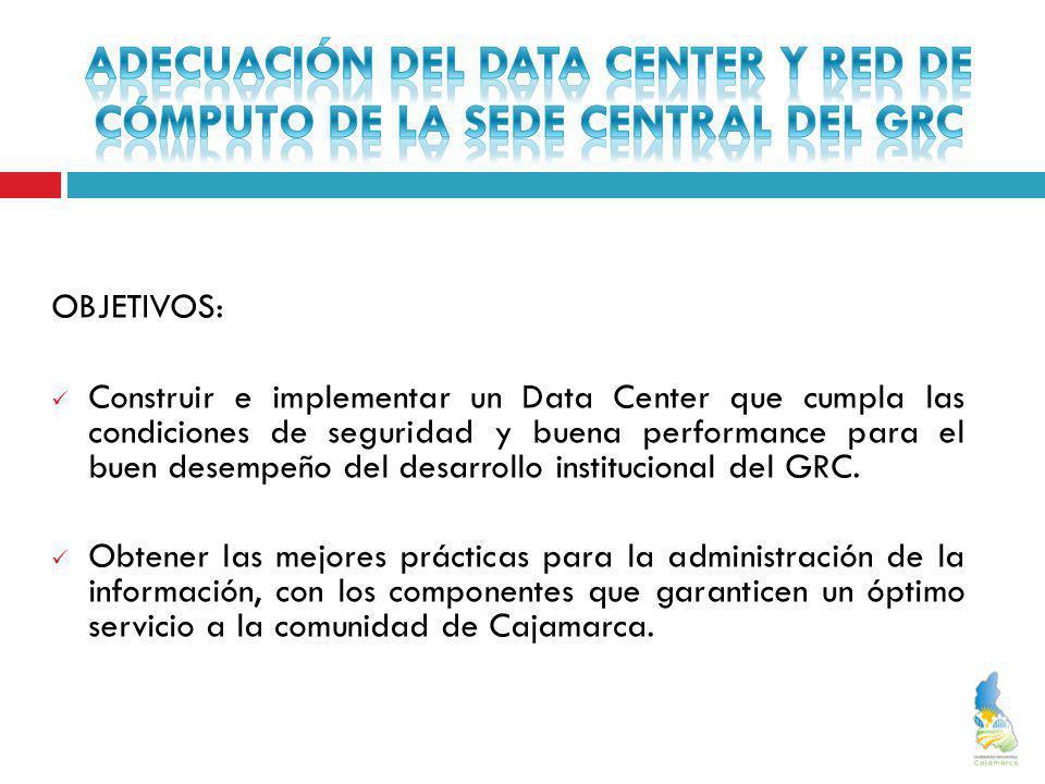ADECUACIÓN DEL DATA CENTER Y RED DE CÓMPUTO DE LA SEDE CENTRAL DEL GRC