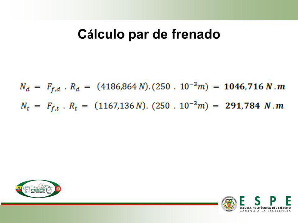 Cálculo par de frenado