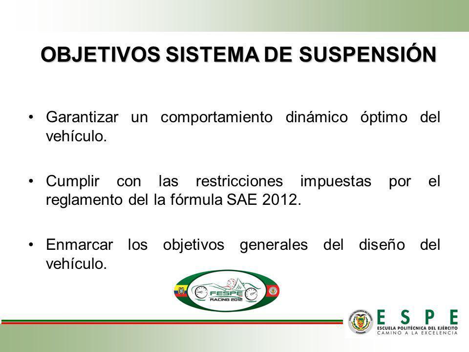 OBJETIVOS SISTEMA DE SUSPENSIÓN