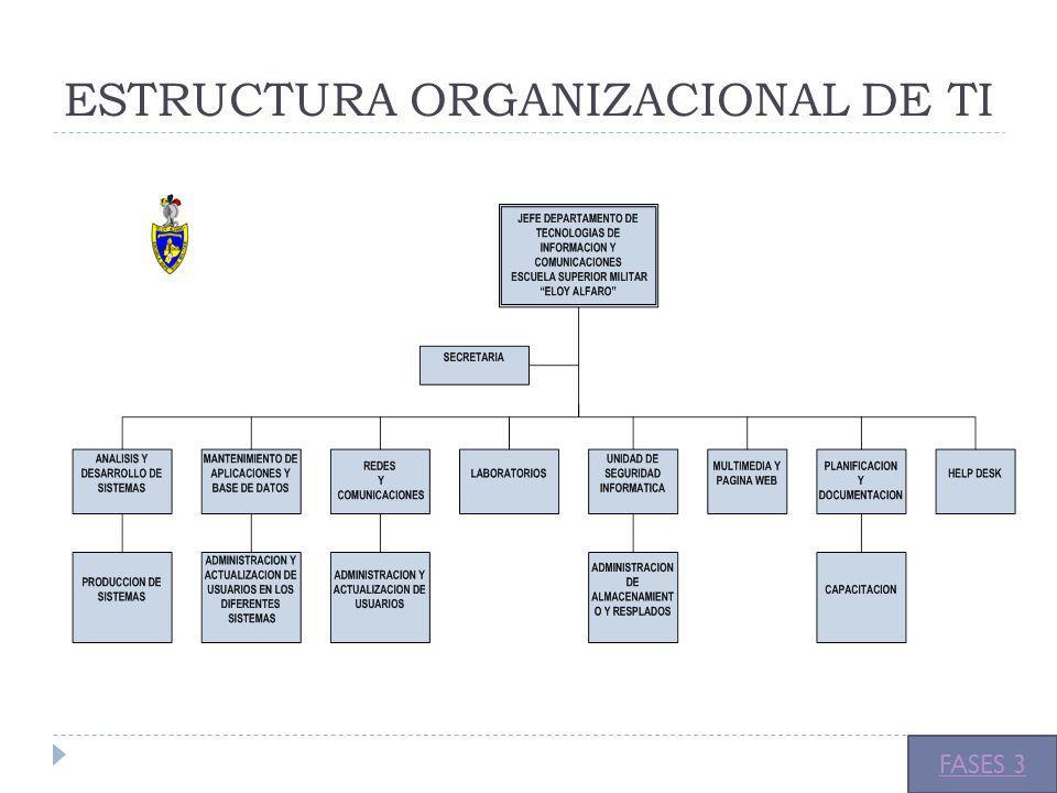 ESTRUCTURA ORGANIZACIONAL DE TI