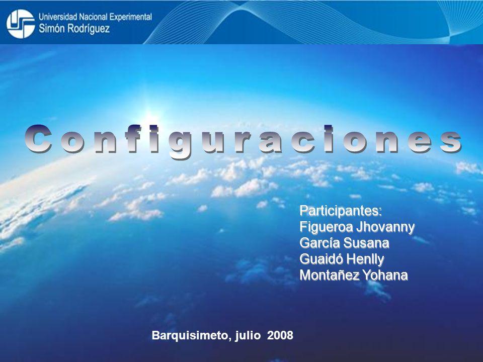 Configuraciones Participantes: Figueroa Jhovanny García Susana