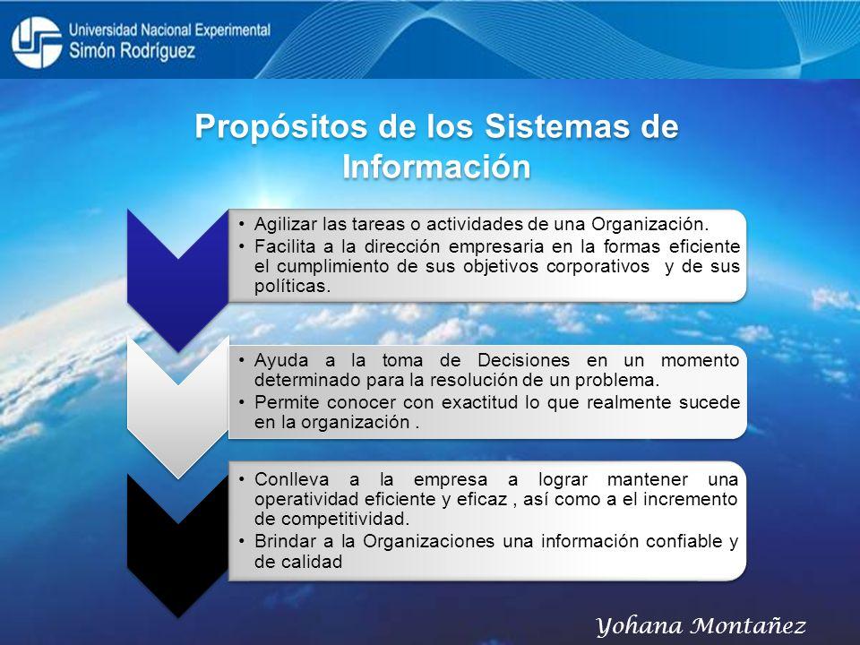 Propósitos de los Sistemas de Información