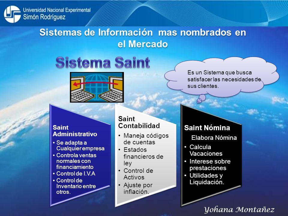 Sistemas de Información mas nombrados en el Mercado