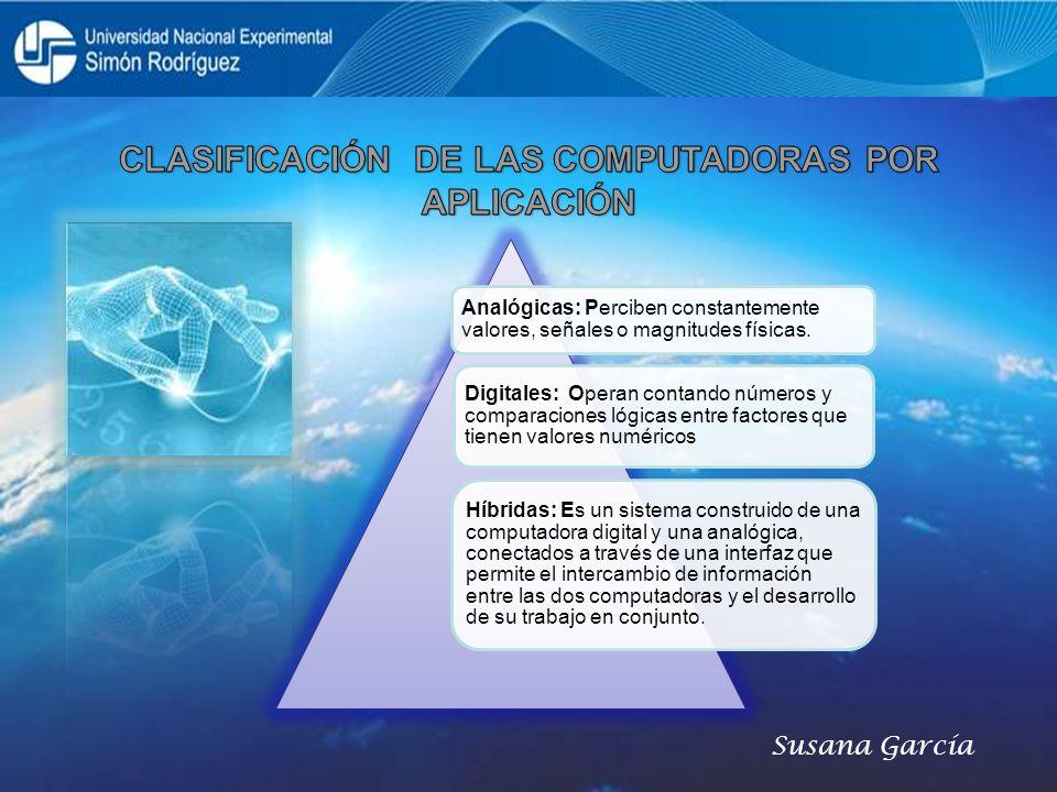 CLASIFICACIÓN DE LAS COMPUTADORAS POR APLICACIÓN