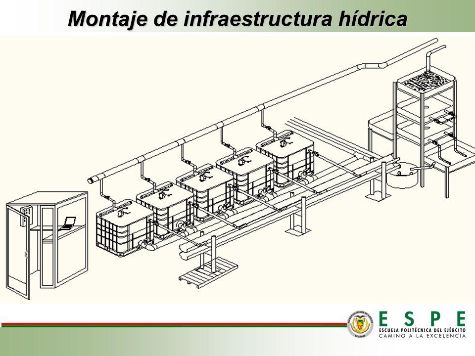Montaje de infraestructura hídrica
