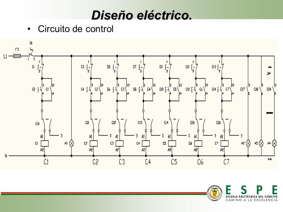 Diseño eléctrico. Circuito de control
