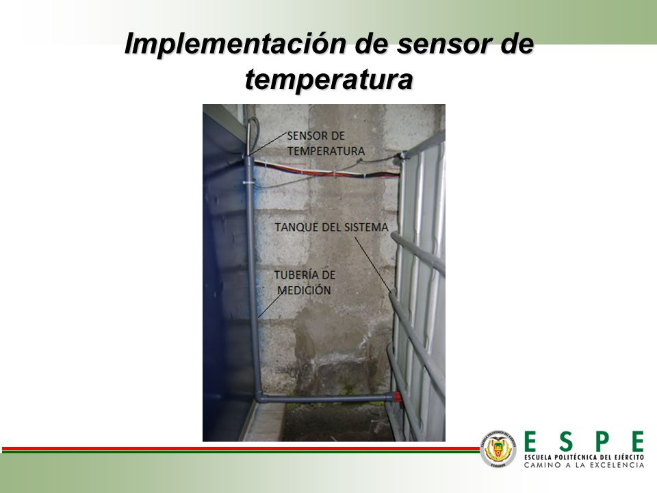 Implementación de sensor de temperatura