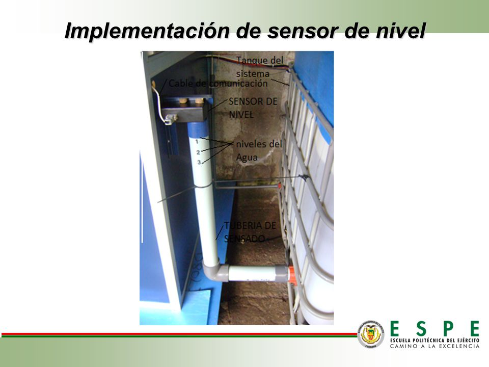 Implementación de sensor de nivel