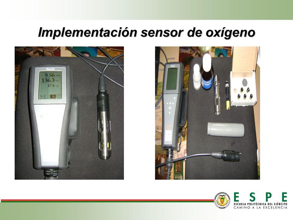 Implementación sensor de oxígeno