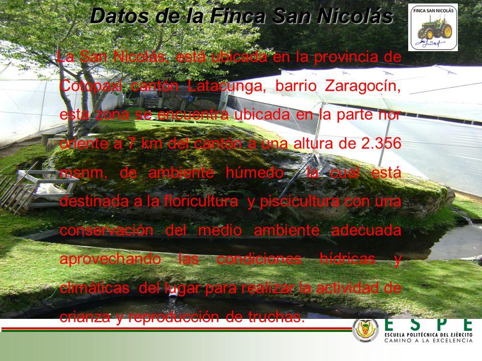 Datos de la Finca San Nicolás