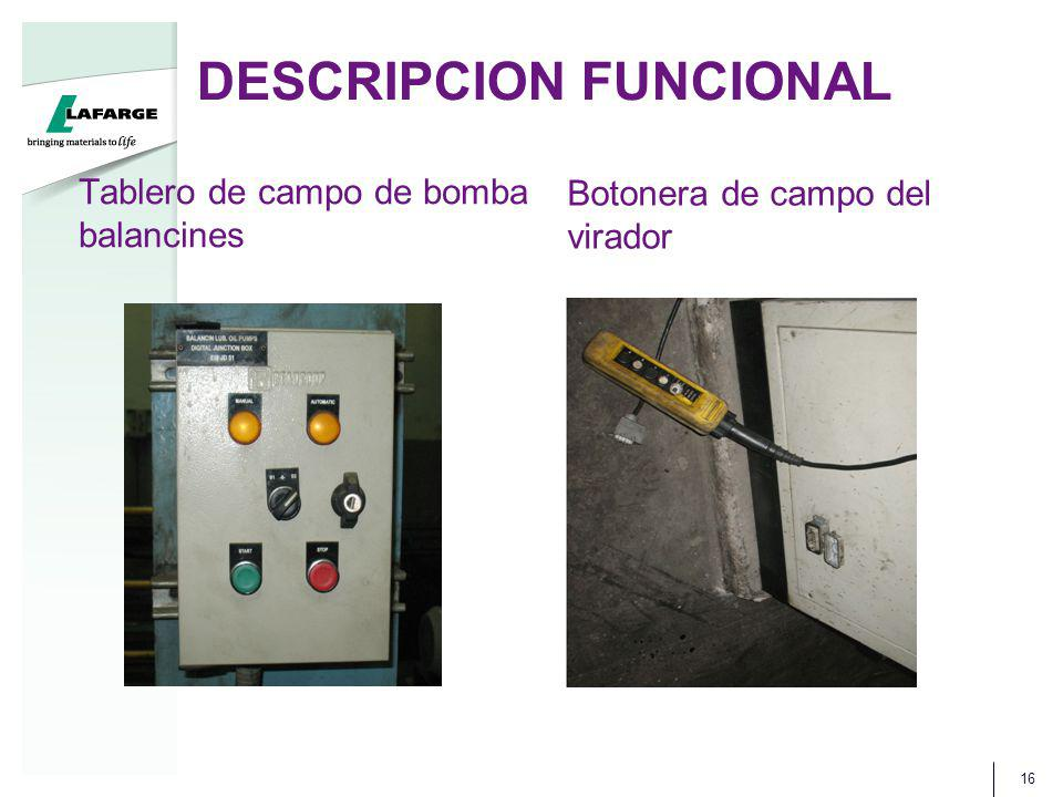 DESCRIPCION FUNCIONAL