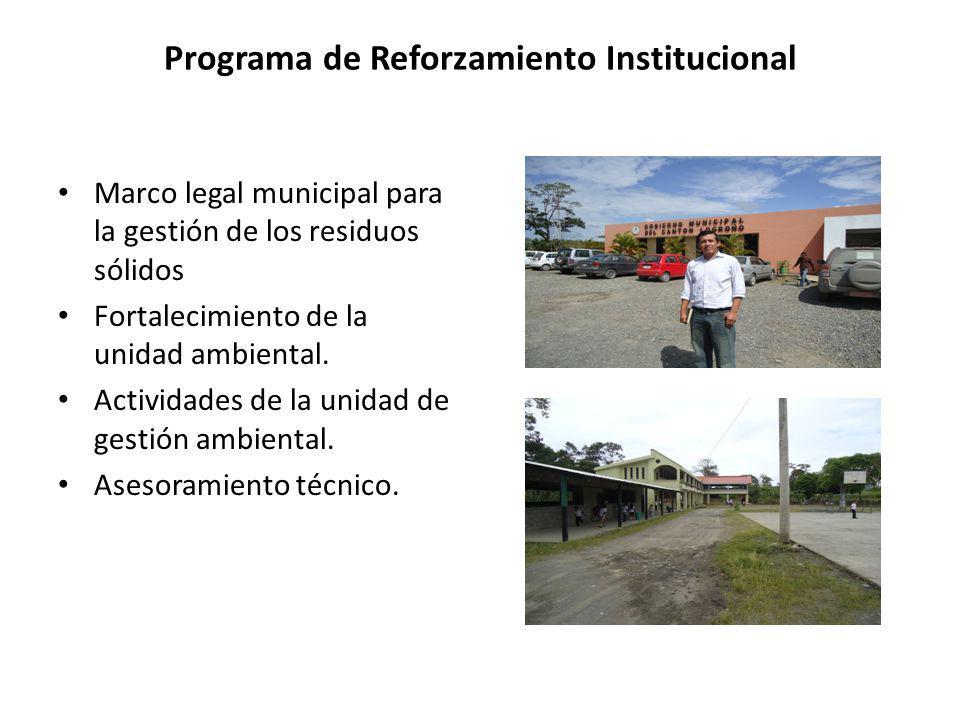Programa de Reforzamiento Institucional
