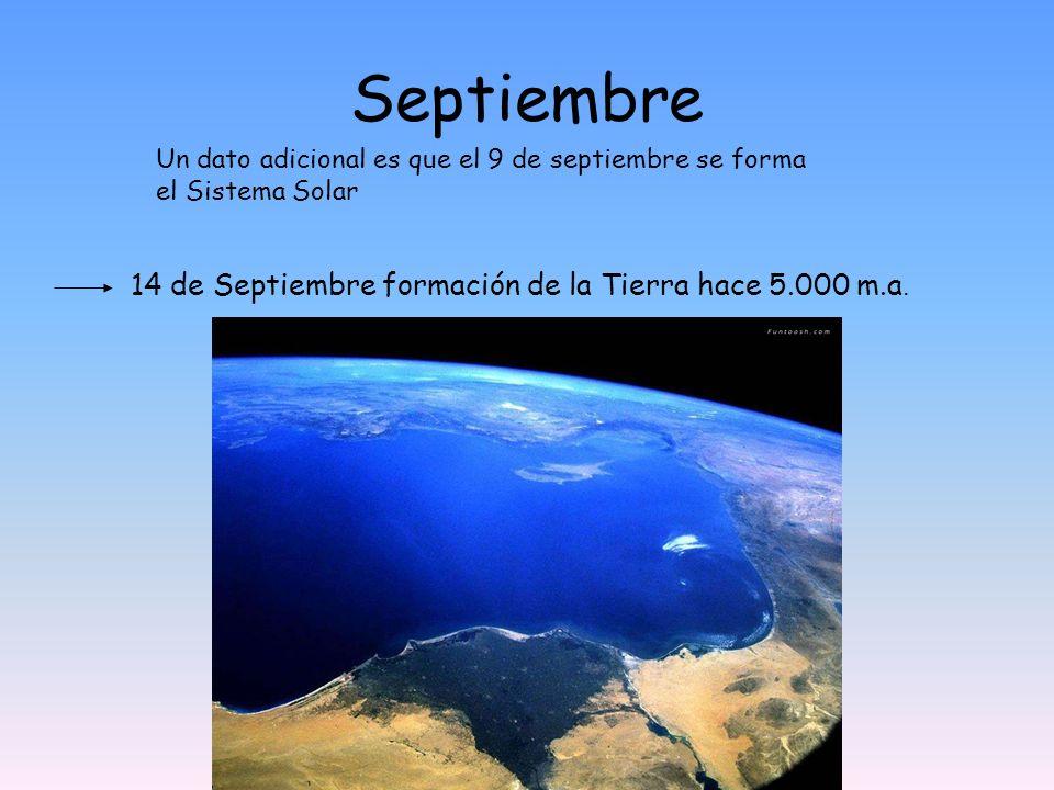 Septiembre 14 de Septiembre formación de la Tierra hace 5.000 m.a.