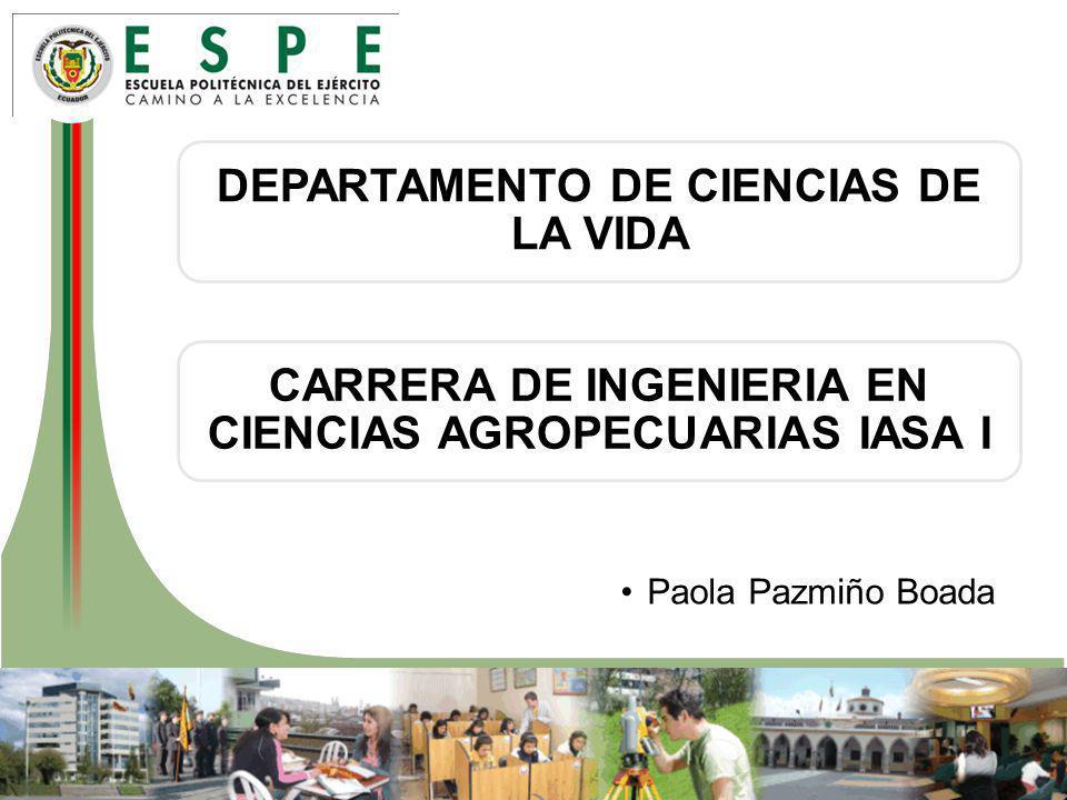 DEPARTAMENTO DE CIENCIAS DE LA VIDA