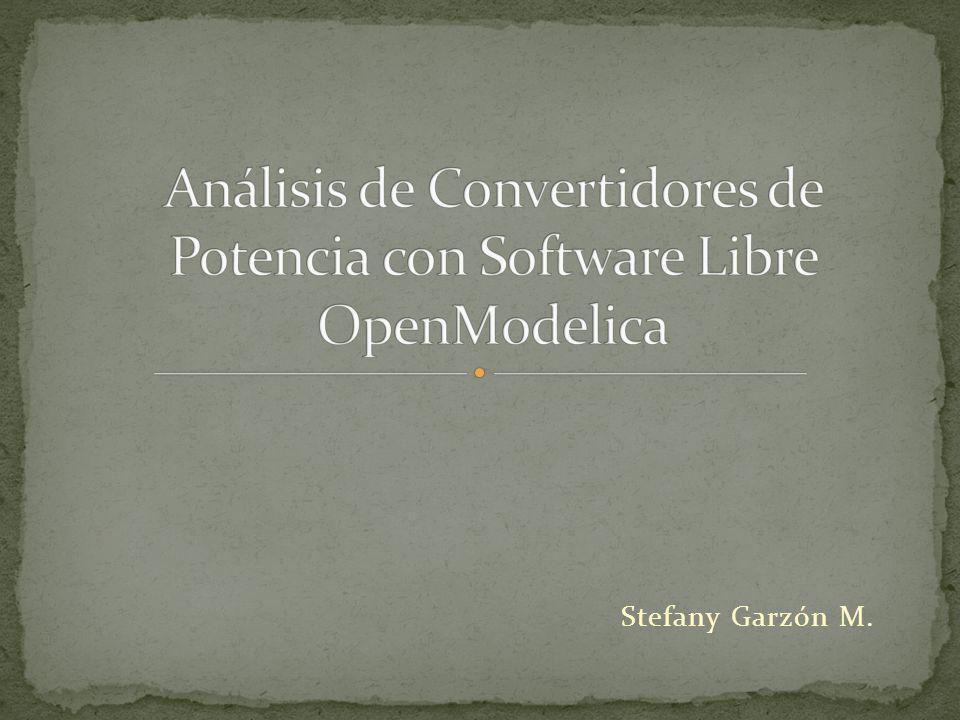 Análisis de Convertidores de Potencia con Software Libre OpenModelica