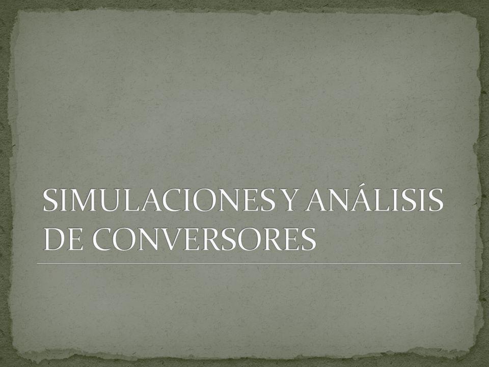 SIMULACIONES Y ANÁLISIS DE CONVERSORES