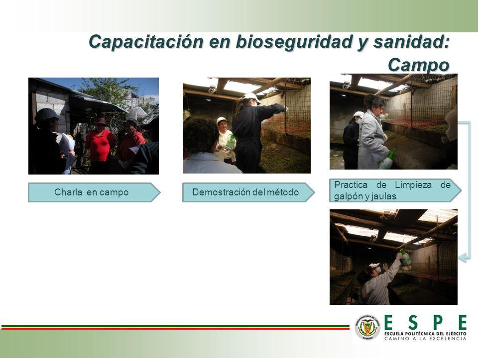 Capacitación en bioseguridad y sanidad: Campo