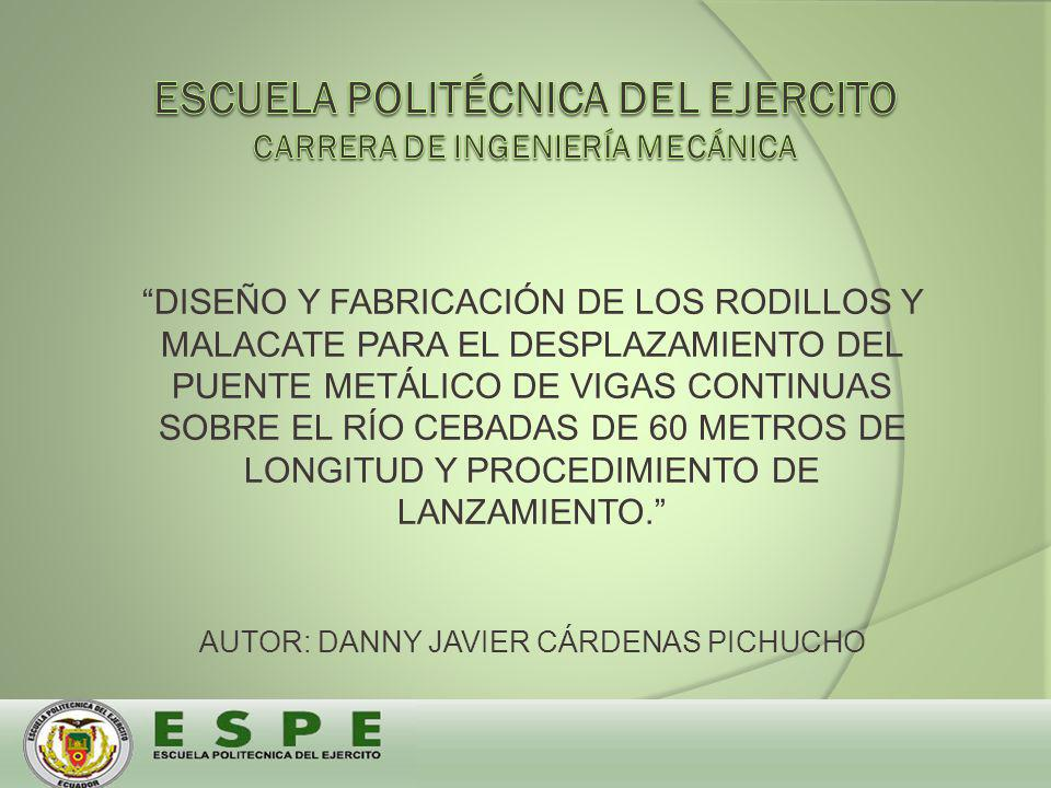 ESCUELA POLITÉCNICA DEL EJERCITO CARRERA DE INGENIERÍA MECÁNICA