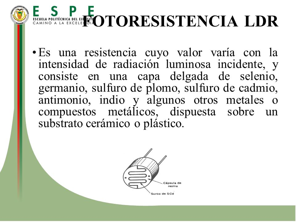 FOTORESISTENCIA LDR