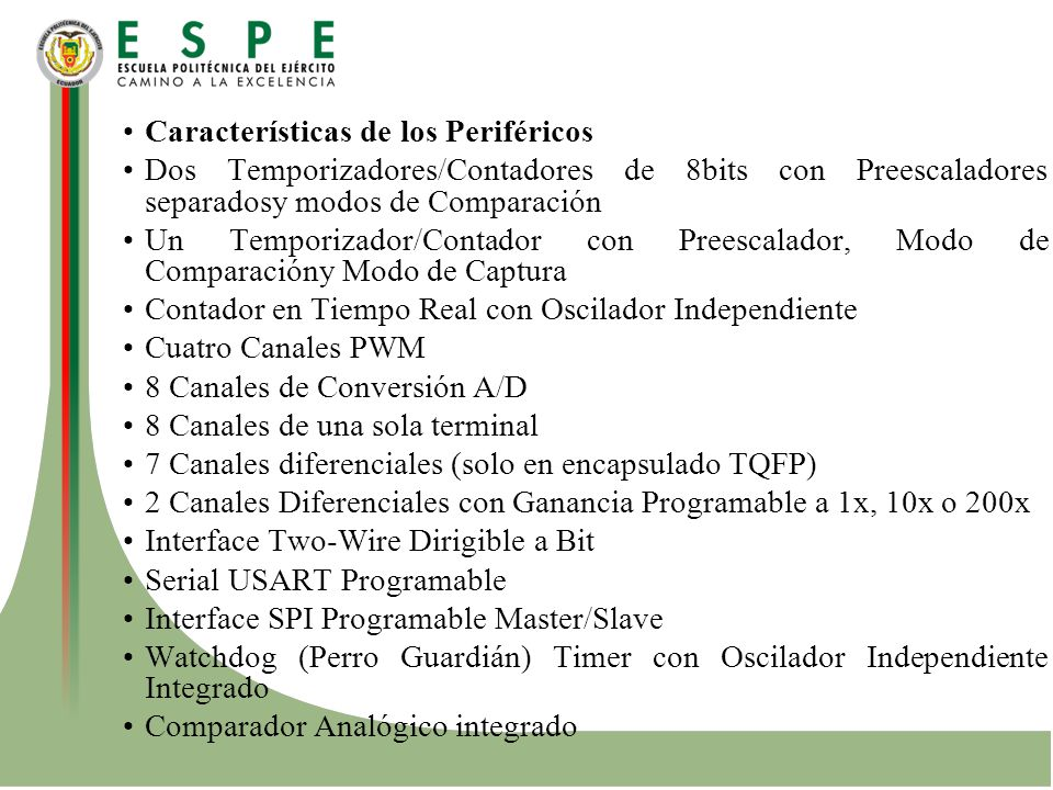 Características de los Periféricos