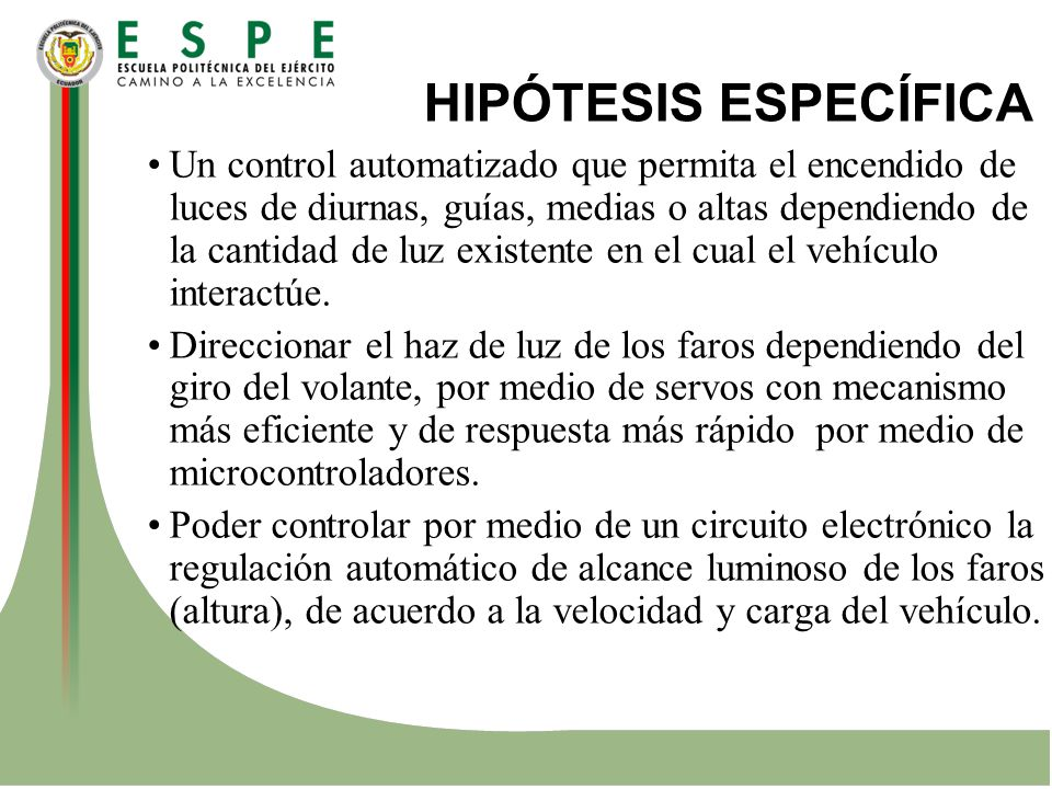 HIPÓTESIS ESPECÍFICA