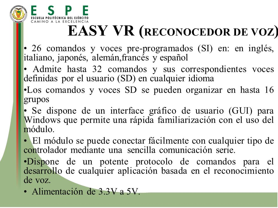 EASY VR (RECONOCEDOR DE VOZ)
