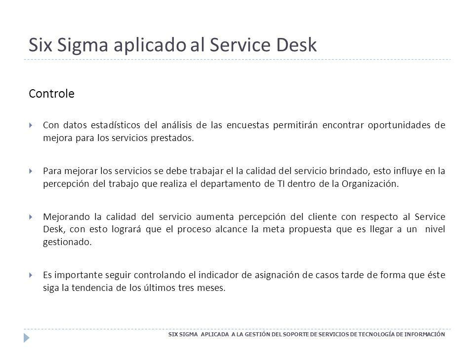 Six Sigma aplicado al Service Desk