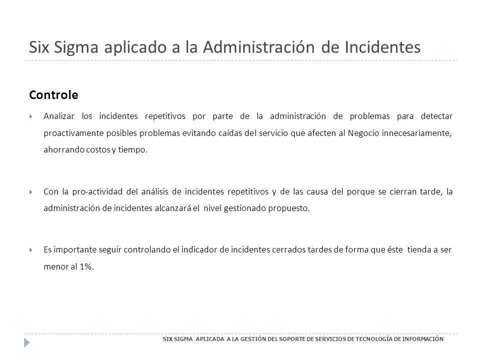 Six Sigma aplicado a la Administración de Incidentes