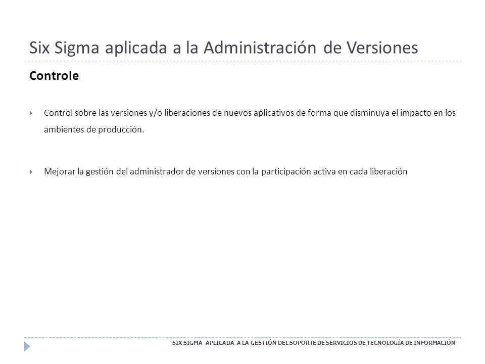 Six Sigma aplicada a la Administración de Versiones