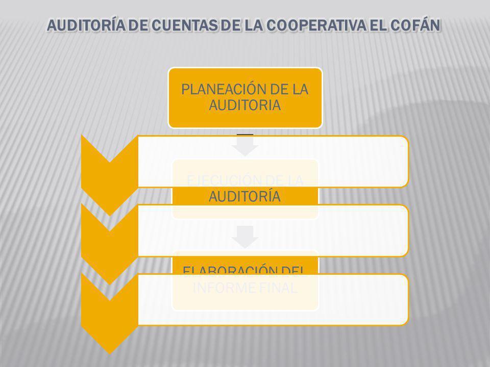 AUDITORÍA DE CUENTAS DE LA COOPERATIVA EL COFÁN