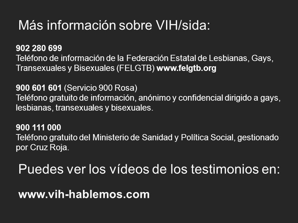 Más información sobre VIH/sida: