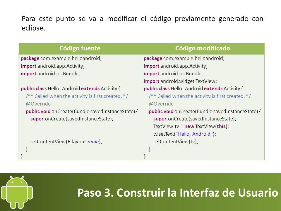 Paso 3. Construir la Interfaz de Usuario
