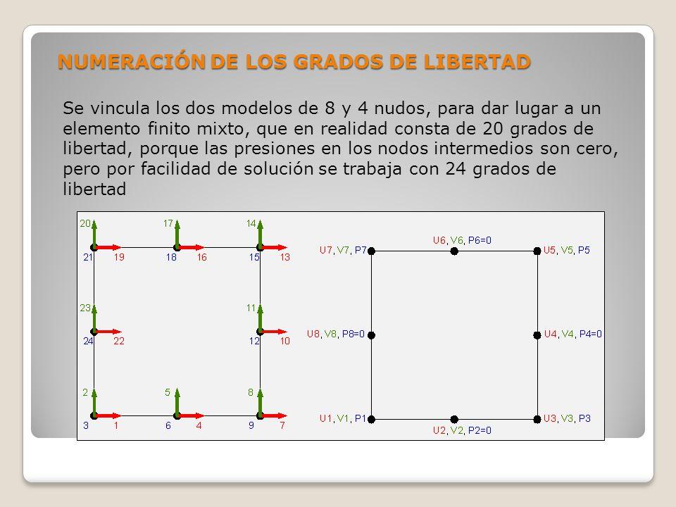 NUMERACIÓN DE LOS GRADOS DE LIBERTAD