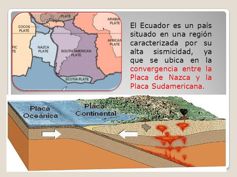El Ecuador es un país situado en una región caracterizada por su alta sismicidad, ya que se ubica en la convergencia entre la Placa de Nazca y la Placa Sudamericana.
