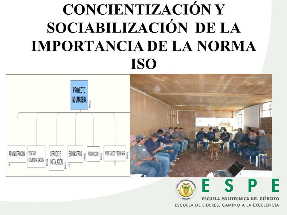 CONCIENTIZACIÓN Y SOCIABILIZACIÓN DE LA IMPORTANCIA DE LA NORMA ISO