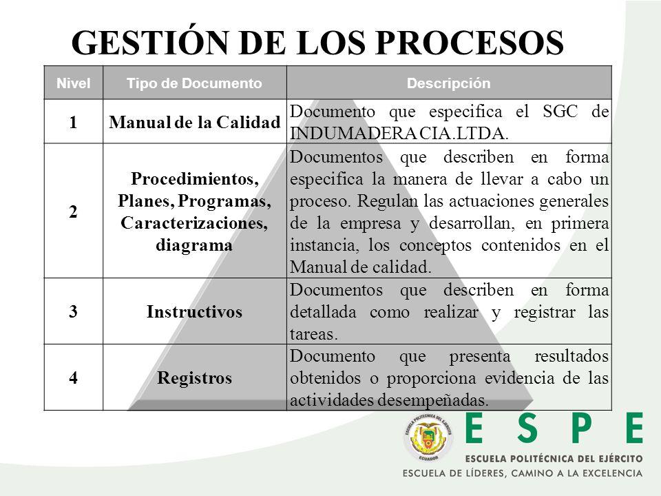 GESTIÓN DE LOS PROCESOS