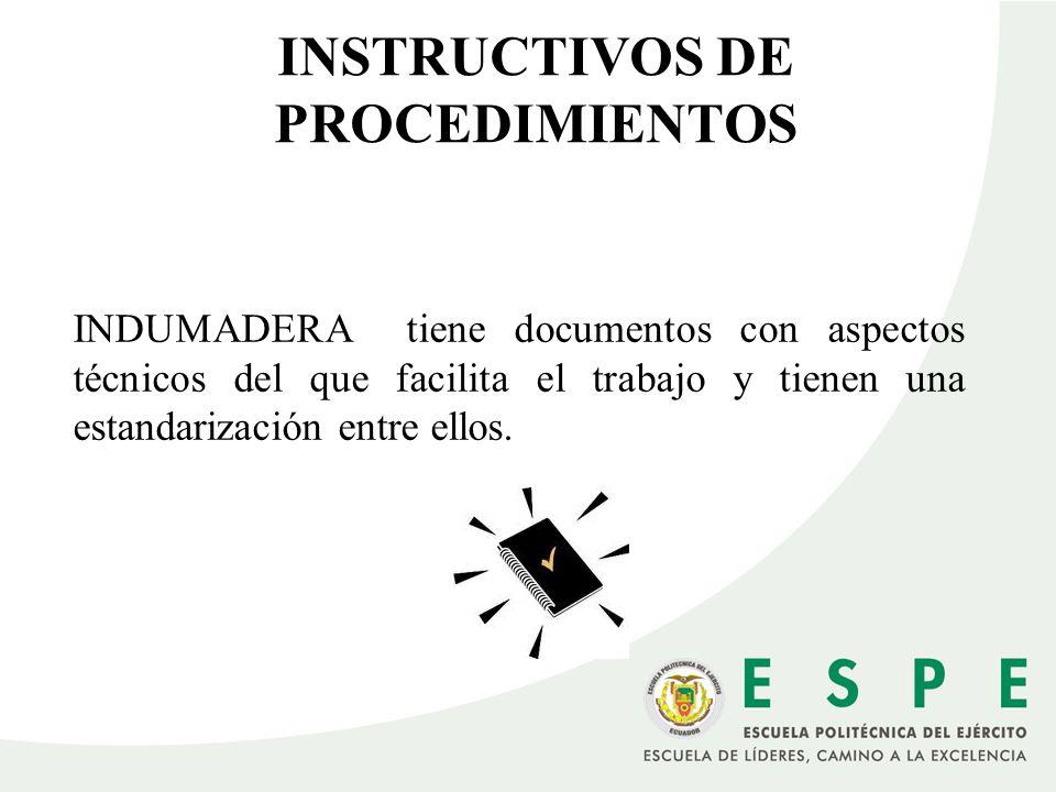 INSTRUCTIVOS DE PROCEDIMIENTOS