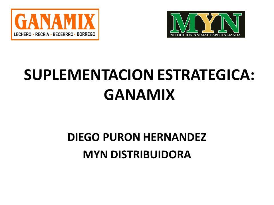 SUPLEMENTACION ESTRATEGICA: GANAMIX