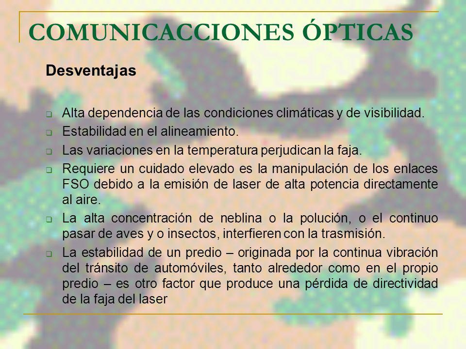 COMUNICACCIONES ÓPTICAS
