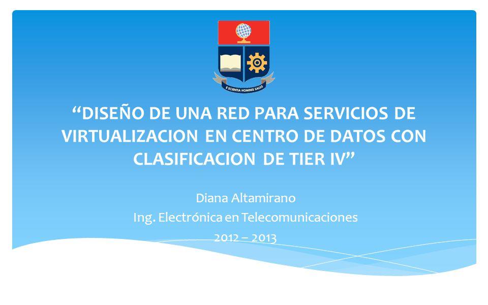 Diana Altamirano Ing. Electrónica en Telecomunicaciones 2012 – 2013