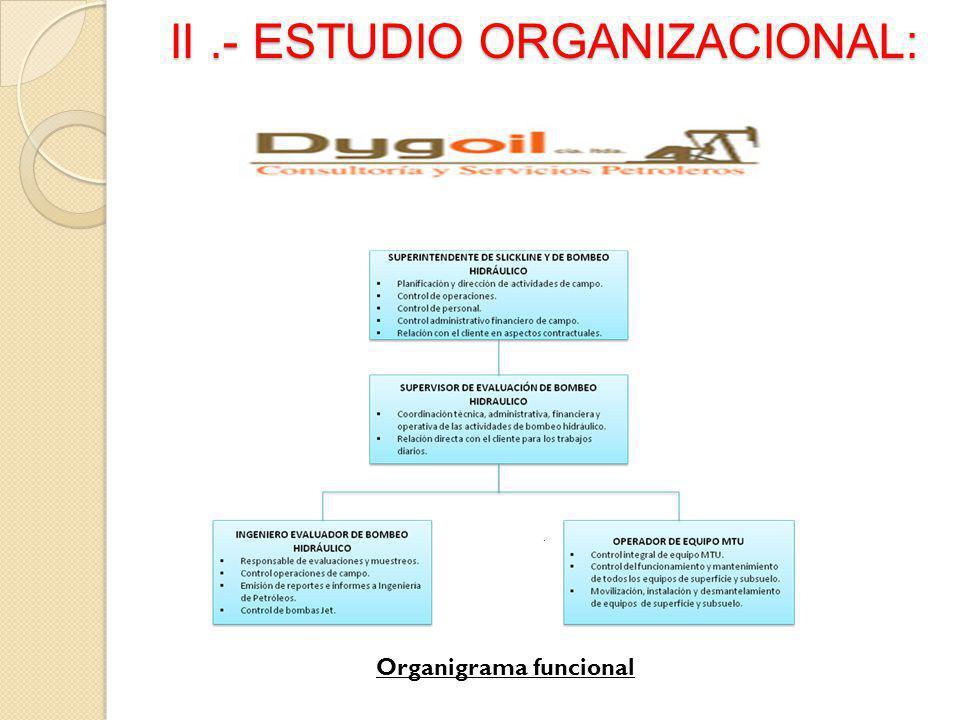 II .- ESTUDIO ORGANIZACIONAL: